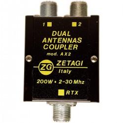 Zetagi AX2 Acoplador para enfasar dos antenas