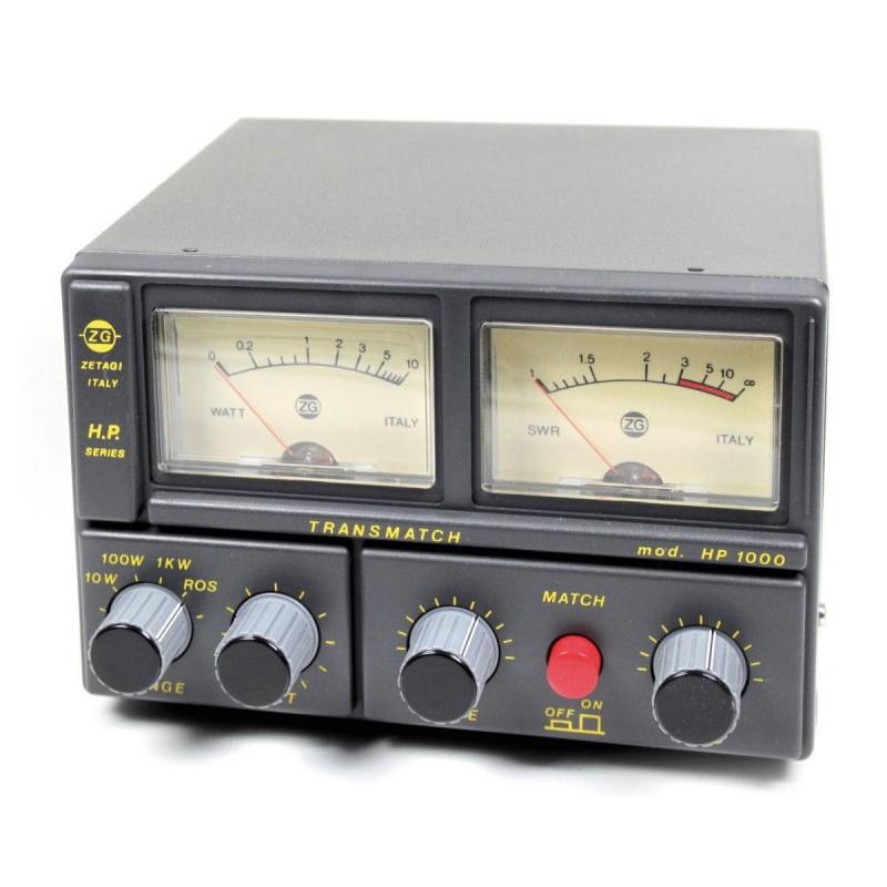 Zetagi HP1000 Medidor ROE Acoplador y Watt